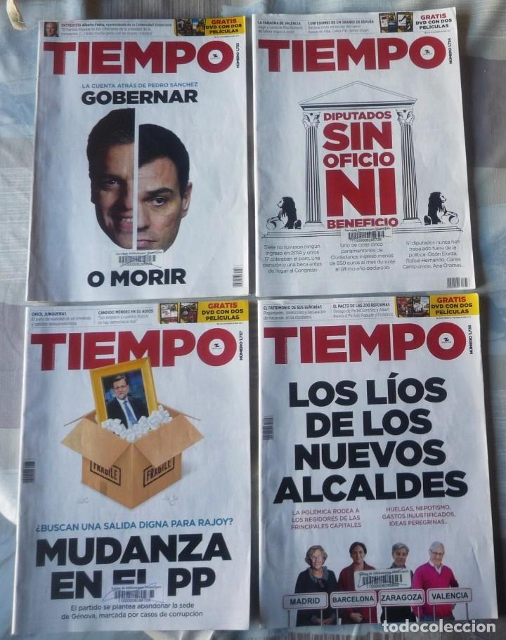 LOTE DE CUATRO REVISTAS DE TIEMPO (Coleccionismo - Revistas y Periódicos Modernos (a partir de 1.940) - Revista Tiempo)