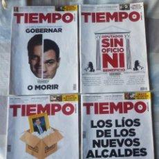 Coleccionismo de Revista Tiempo: LOTE DE CUATRO REVISTAS DE TIEMPO. Lote 76942633