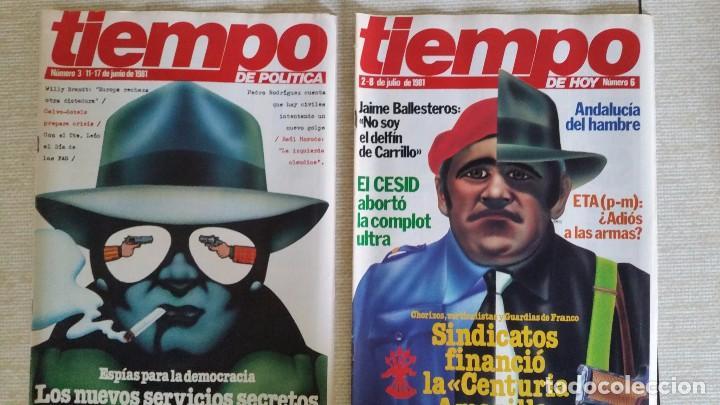LOTE DE REVISTAS TIEMPO DE HOY - PRIMEROS NÚMEROS AÑOS 1981 1982 - NO SE DESHACE EL LOTE (Coleccionismo - Revistas y Periódicos Modernos (a partir de 1.940) - Revista Tiempo)
