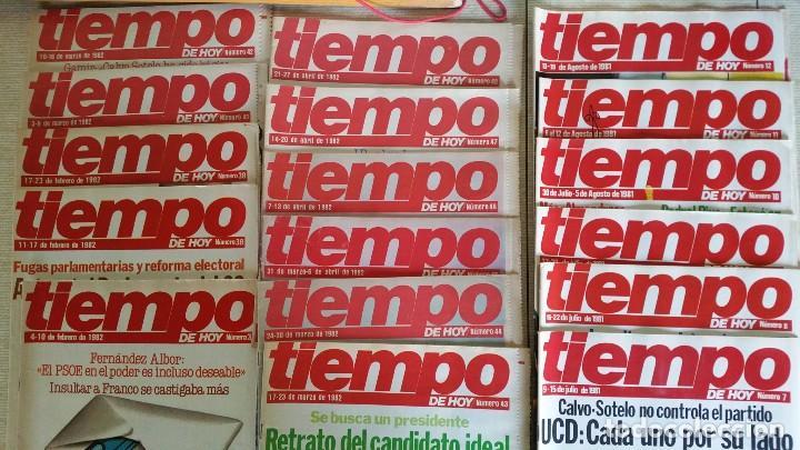 Coleccionismo de Revista Tiempo: LOTE DE REVISTAS TIEMPO DE HOY - PRIMEROS NÚMEROS AÑOS 1981 1982 - NO SE DESHACE EL LOTE - Foto 2 - 80036165