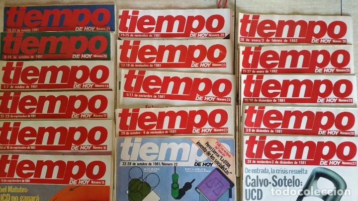 Coleccionismo de Revista Tiempo: LOTE DE REVISTAS TIEMPO DE HOY - PRIMEROS NÚMEROS AÑOS 1981 1982 - NO SE DESHACE EL LOTE - Foto 3 - 80036165