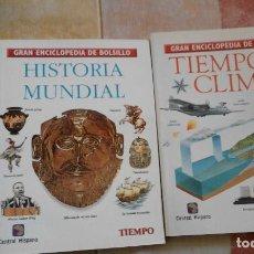 Coleccionismo de Revista Tiempo: LOTE 2 GRAN ENCICLOPEDIA DE BOLSILLO REVISTA TIEMPO TIEMPO Y CLIMA HISTORIA UNIVERSAL. Lote 81033688
