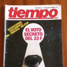 Coleccionismo de Revista Tiempo: REVISTA TIEMPO Nº 13-1982 - ALASKA SIN PEGAMOIDES - MARILYN MONROE - SOLDADOS RECORTABLES. Lote 84940900