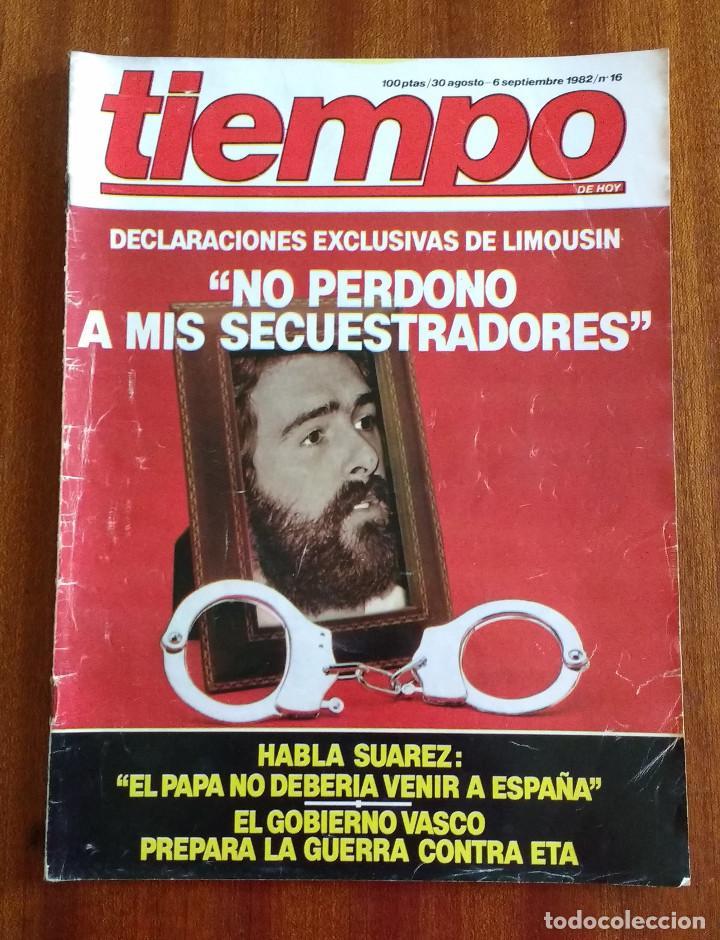 REVISTA TIEMPO Nº 16-1982 - ENTREVISTA A FRANCISCO LIMOUSIN - ANGEL SOPEÑA - RAFAEL RULLAN - FELLINI (Coleccionismo - Revistas y Periódicos Modernos (a partir de 1.940) - Revista Tiempo)
