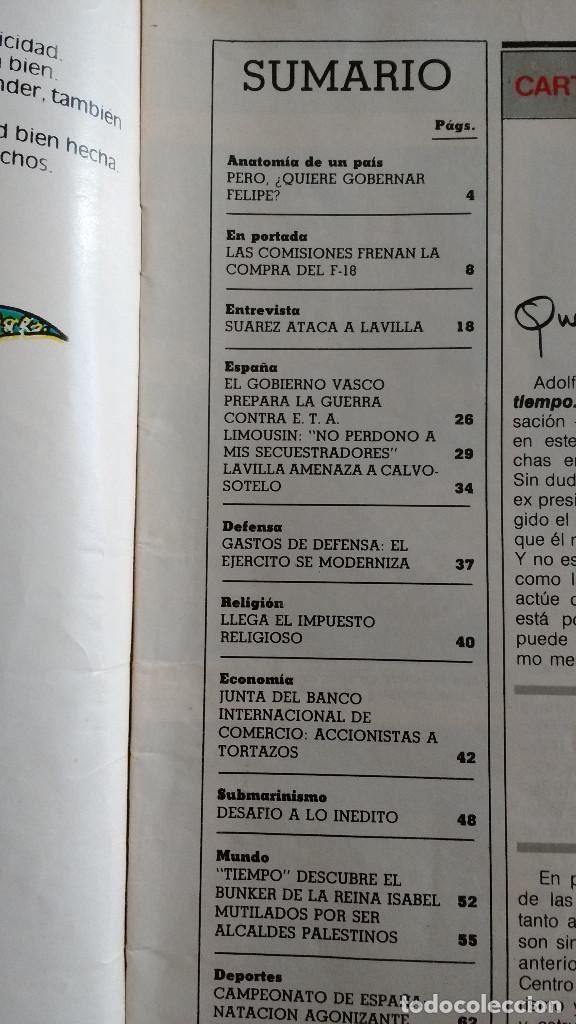 Coleccionismo de Revista Tiempo: REVISTA TIEMPO Nº 16-1982 - ENTREVISTA A FRANCISCO LIMOUSIN - ANGEL SOPEÑA - RAFAEL RULLAN - FELLINI - Foto 2 - 84941688