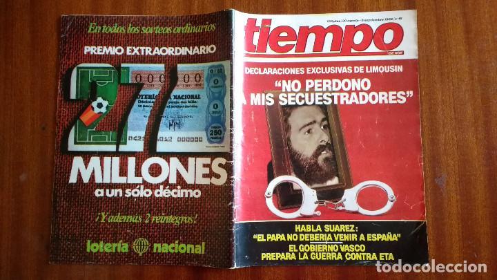 Coleccionismo de Revista Tiempo: REVISTA TIEMPO Nº 16-1982 - ENTREVISTA A FRANCISCO LIMOUSIN - ANGEL SOPEÑA - RAFAEL RULLAN - FELLINI - Foto 5 - 84941688