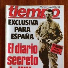 Coleccionismo de Revista Tiempo: REVISTA TIEMPO Nº 52-1983 - EL DIARIO SECRETO DE HITLER - LUIS MARIA ANSON - PUBLICIDAD PEGASO. Lote 84967216
