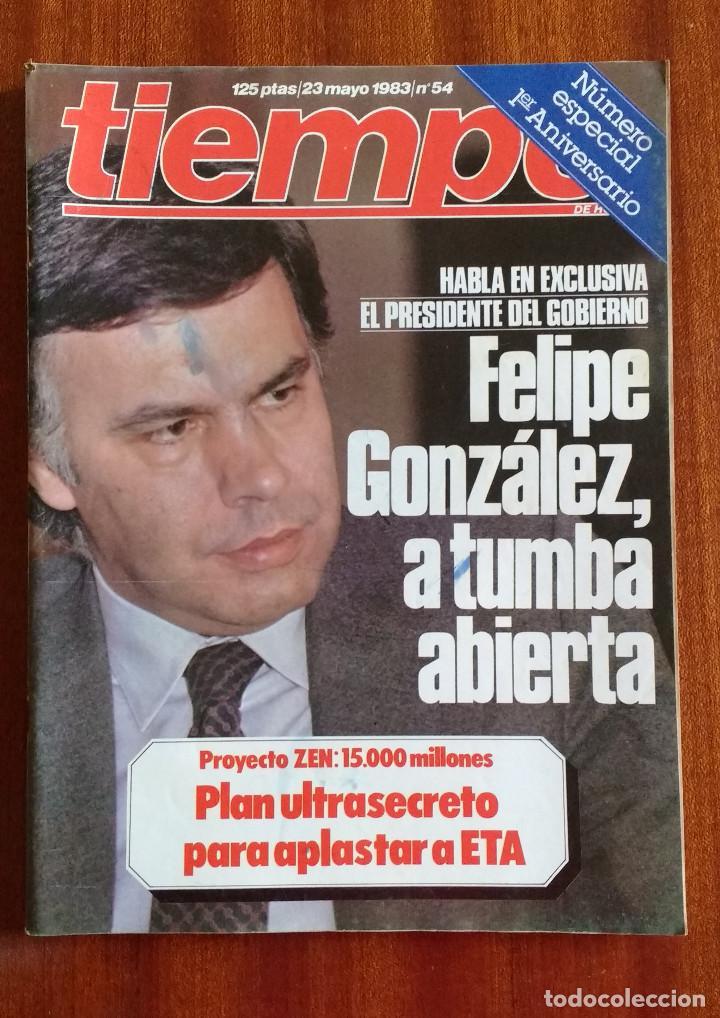 REVISTA TIEMPO Nº 54-1983 - VICTOR MANUEL - FELIPE GONZALEZ (1) - PUBLICIDAD PEGASO-RICARD (Coleccionismo - Revistas y Periódicos Modernos (a partir de 1.940) - Revista Tiempo)
