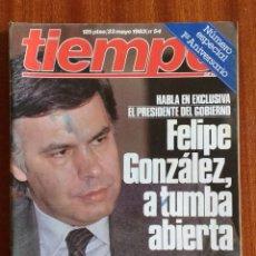 Coleccionismo de Revista Tiempo: REVISTA TIEMPO Nº 54-1983 - VICTOR MANUEL - FELIPE GONZALEZ (1) - PUBLICIDAD PEGASO-RICARD. Lote 84968996