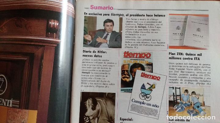 Coleccionismo de Revista Tiempo: REVISTA TIEMPO Nº 54-1983 - VICTOR MANUEL - FELIPE GONZALEZ (1) - PUBLICIDAD PEGASO-RICARD - Foto 3 - 84968996