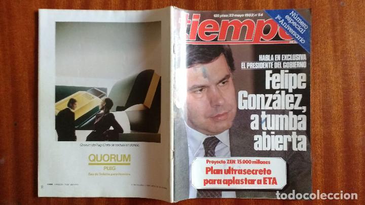 Coleccionismo de Revista Tiempo: REVISTA TIEMPO Nº 54-1983 - VICTOR MANUEL - FELIPE GONZALEZ (1) - PUBLICIDAD PEGASO-RICARD - Foto 12 - 84968996