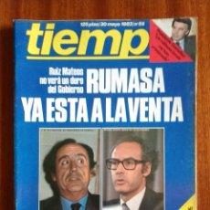 Coleccionismo de Revista Tiempo: REVISTA TIEMPO Nº 55-1983-POSTER CENTRAL DOBLE DE RICARD-ANTONIO-FELIPE GONZALEZ(2)-EUSEBIO SEMPERE. Lote 84969344