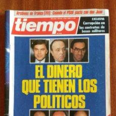 Coleccionismo de Revista Tiempo: REVISTA TIEMPO Nº 142-1988 - LOS ARCHIVOS SECRETOS DE FRANCO (CAPITULO VII). Lote 84972656