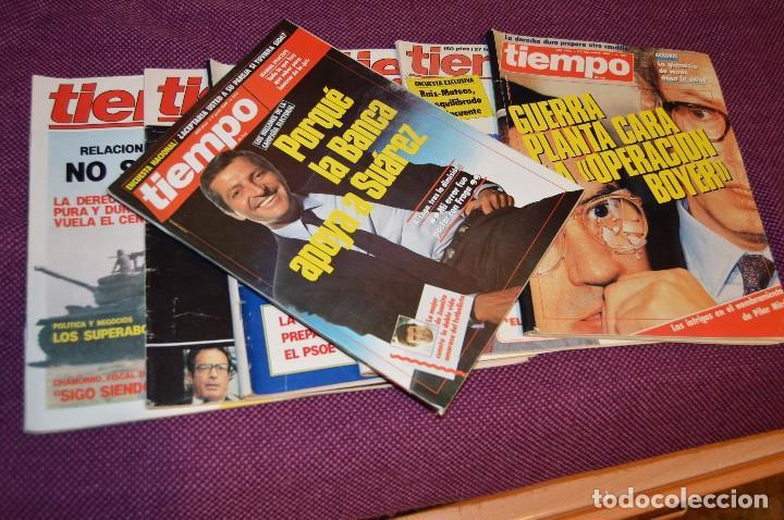 LOTE 7 REVISTAS TIEMPO - AÑOS 80 - PERIODO POLITICO Y SOCIAL MUY INTERESANTE - HAZME OFERTA - LOT 01 (Coleccionismo - Revistas y Periódicos Modernos (a partir de 1.940) - Revista Tiempo)