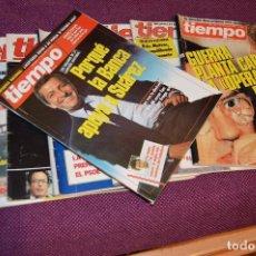 Coleccionismo de Revista Tiempo: LOTE 7 REVISTAS TIEMPO - AÑOS 80 - PERIODO POLITICO Y SOCIAL MUY INTERESANTE - HAZME OFERTA - LOT 01. Lote 89214700