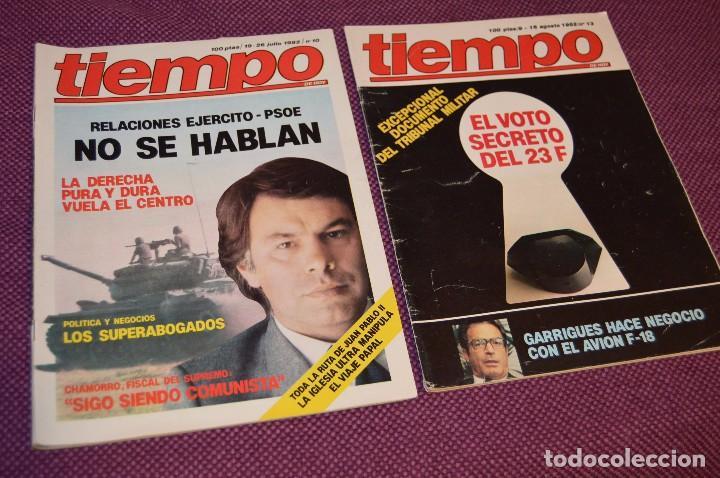 Coleccionismo de Revista Tiempo: LOTE 7 REVISTAS TIEMPO - AÑOS 80 - PERIODO POLITICO Y SOCIAL MUY INTERESANTE - HAZME OFERTA - LOT 01 - Foto 2 - 89214700