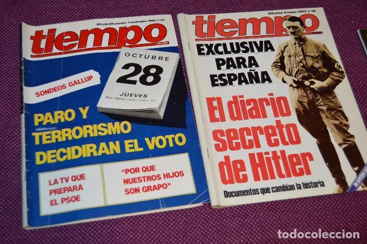 Coleccionismo de Revista Tiempo: LOTE 7 REVISTAS TIEMPO - AÑOS 80 - PERIODO POLITICO Y SOCIAL MUY INTERESANTE - HAZME OFERTA - LOT 01 - Foto 3 - 89214700