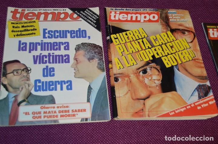 Coleccionismo de Revista Tiempo: LOTE 7 REVISTAS TIEMPO - AÑOS 80 - PERIODO POLITICO Y SOCIAL MUY INTERESANTE - HAZME OFERTA - LOT 01 - Foto 4 - 89214700
