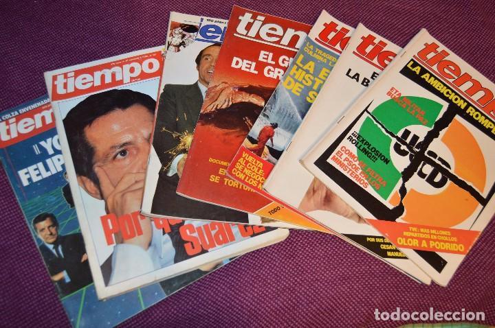LOTE 7 REVISTAS TIEMPO - AÑOS 80 - PERIODO POLITICO Y SOCIAL MUY INTERESANTE - HAZME OFERTA - LOT 02 (Coleccionismo - Revistas y Periódicos Modernos (a partir de 1.940) - Revista Tiempo)