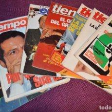 Coleccionismo de Revista Tiempo: LOTE 7 REVISTAS TIEMPO - AÑOS 80 - PERIODO POLITICO Y SOCIAL MUY INTERESANTE - HAZME OFERTA - LOT 02. Lote 89215076