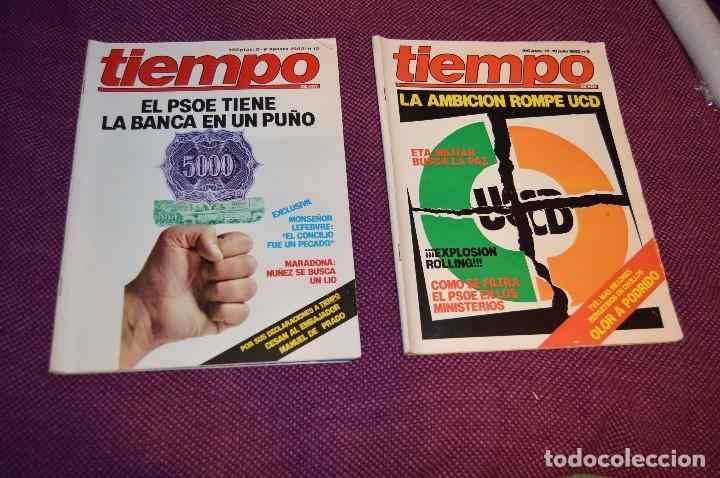 Coleccionismo de Revista Tiempo: LOTE 7 REVISTAS TIEMPO - AÑOS 80 - PERIODO POLITICO Y SOCIAL MUY INTERESANTE - HAZME OFERTA - LOT 02 - Foto 2 - 89215076