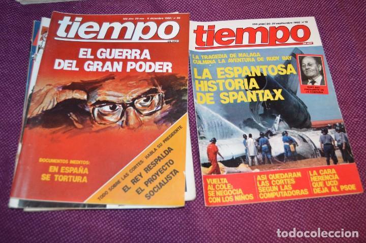 Coleccionismo de Revista Tiempo: LOTE 7 REVISTAS TIEMPO - AÑOS 80 - PERIODO POLITICO Y SOCIAL MUY INTERESANTE - HAZME OFERTA - LOT 02 - Foto 3 - 89215076