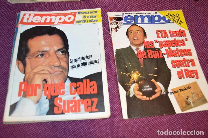 Coleccionismo de Revista Tiempo: LOTE 7 REVISTAS TIEMPO - AÑOS 80 - PERIODO POLITICO Y SOCIAL MUY INTERESANTE - HAZME OFERTA - LOT 02 - Foto 4 - 89215076