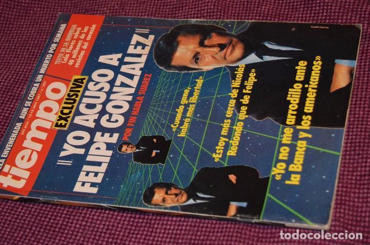 Coleccionismo de Revista Tiempo: LOTE 7 REVISTAS TIEMPO - AÑOS 80 - PERIODO POLITICO Y SOCIAL MUY INTERESANTE - HAZME OFERTA - LOT 02 - Foto 6 - 89215076