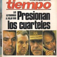Coleccionismo de Revista Tiempo: REVISTA TIEMPO DE HOY. Nº 67. 22 AGOSTO 1983. (B/58). Lote 89393216