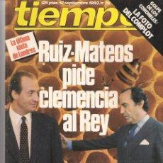 Coleccionismo de Revista Tiempo: REVISTA TIEMPO DE HOY. Nº 70.12 SEPTIEMBRE 1983. (B/58). Lote 89393408