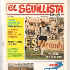 Colecionismo da Revista Tiempo: EL SEVILLISTA. Nº 14. JUNIO 1987. (B/58). Lote 89434812