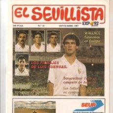 Colecionismo da Revista Tiempo: EL SEVILLISTA. Nº 15. POSTER DEL EQUIPO. SEPTIEMBRE 1987. (B/58). Lote 89434920