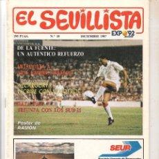 Colecionismo da Revista Tiempo: EL SEVILLISTA. Nº 18. POSTER: RAMÓN. DCBRE. 1987. (B/58). Lote 89435096