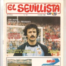 Colecionismo da Revista Tiempo: EL SEVILLISTA. Nº 19. POSTER: JIMÉNEZ. ENERO 1988. (B/58). Lote 89435172