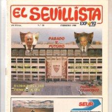 Colecionismo da Revista Tiempo: EL SEVILLISTA. Nº 20. POSTER: FRANCISCO. FEBRERO 1988. (B/58). Lote 89435224
