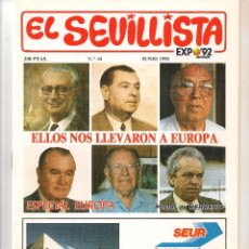 Colecionismo da Revista Tiempo: EL SEVILLISTA. Nº 44. POSTER: HERRERO. JUNIO 1990. (B/58). Lote 89436896
