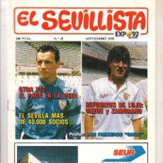 Coleccionismo de Revista Tiempo: EL SEVILLISTA. Nº 45. FALTAN PÁGINAS CENTRALES. JUNIO 1990. (B/58). Lote 89436992