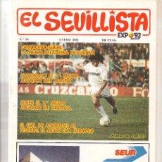 Colecionismo da Revista Tiempo: EL SEVILLISTA. Nº 59. PÓSTER: DIEGO. ENERO 1992. (B/58). Lote 89438056