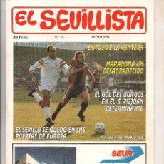 Colecionismo da Revista Tiempo: EL SEVILLISTA. Nº 73. PÓSTER: PINEDA. JUNIO 1993. (B/58). Lote 89438996