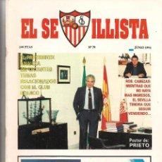 Colecionismo da Revista Tiempo: EL SEVILLISTA. Nº 79. PÓSTER: PRIETO. JUNIO 1994. (B/58). Lote 89439672