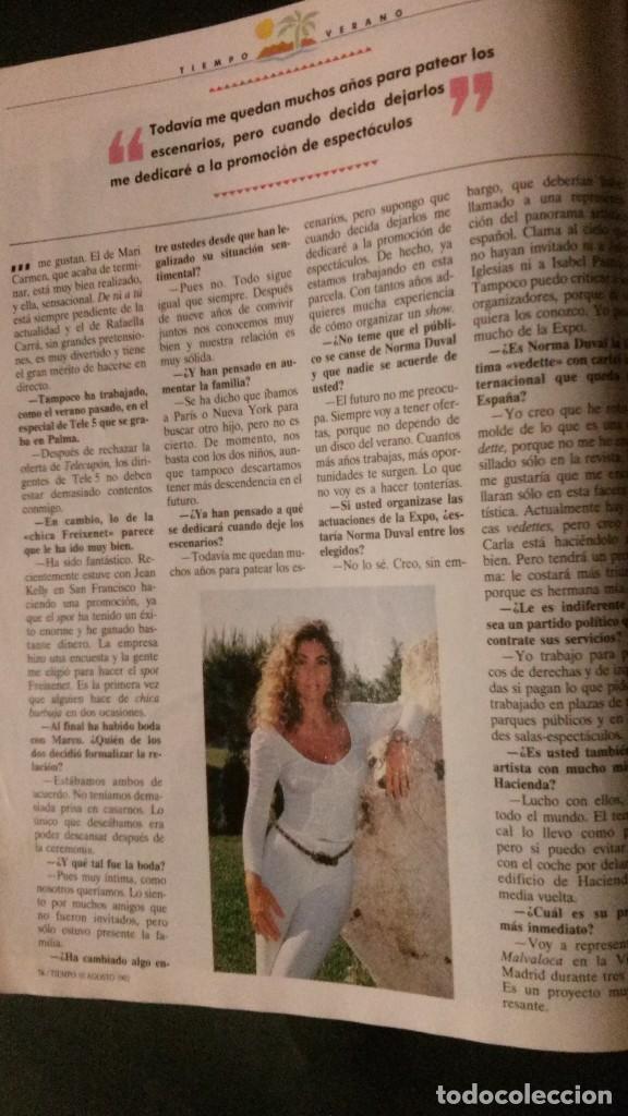 Coleccionismo de Revista Tiempo: TIEMPO 536-1992-NORMA DUVAL-MARIO VARGAS LLOSA-MARTA SANCHEZ-MICHAEL JORDAN-SALMAN RUSHDIE - Foto 3 - 97172035
