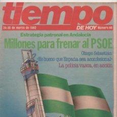 Coleccionismo de Revista Tiempo: REVISTA TIEMPO Nº 44: MILLONES PARA FRENAR AL PSOE (ORÍGENES REVISTA TIEMPO SEPARATA DE INTERVIÚ). Lote 98488007