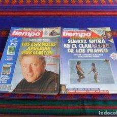 Coleccionismo de Revista Tiempo: TIEMPO Nº 542 SONSOLES SUÁREZ POCHOLO MARTÍNEZ BORDIU 548 BILL CLINTON. 1992.. Lote 100306255