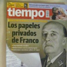 Coleccionismo de Revista Tiempo: REVISTA TIEMPO Nº 1462, 2010 : LOS PAPELES PRIVADOS DE FRANCO , ETC. Lote 105209071
