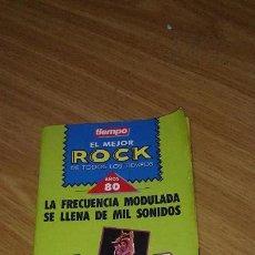 Coleccionismo de Revista Tiempo: TIEMPO - LIBRITO EL MEJOR ROCK AÑOS 80. Lote 106196127