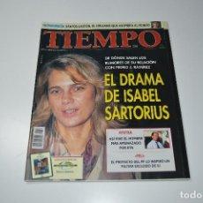 Coleccionismo de Revista Tiempo: TIEMPO EL DRAMA DE ISABEL SARTORIUS. Lote 108842527