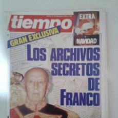 Coleccionismo de Revista Tiempo: LOTE DE 14 REVISTAS TIEMPO (9 DE ELLAS DE LOS ARCHIVOS SECRETOS DE FRANCO). VER DESCRIPCION Y FOTOS. Lote 112468631