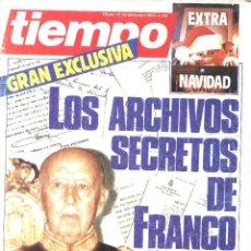 Coleccionismo de Revista Tiempo: REVISTA TIEMPO. 136. DICIMEBRE DE 1984. LOS ARCHIVOS SECRETOS DE FRANCO. Lote 113627787