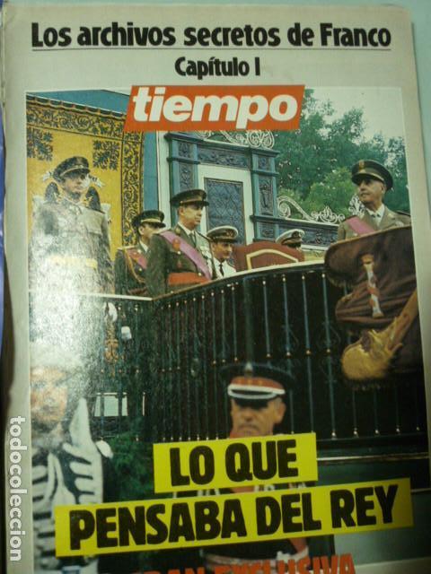TIEMPO - LOS ARCHIVOS SECRETOS DE FRANCO (Coleccionismo - Revistas y Periódicos Modernos (a partir de 1.940) - Revista Tiempo)