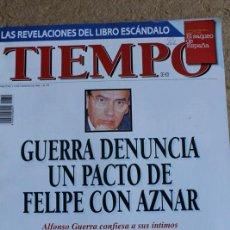 Coleccionismo de Revista Tiempo: REVISTA TIEMPO. Nº 719. 12 DE FEBRERO 1996. GUERRA DENUNCIA UN PACTO DE FELIPE CON AZNAR.. Lote 120206875